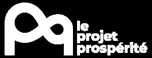 Le Projet Prospérité logo blanc